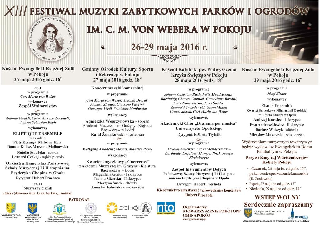 XIII Festiwal Muzyki Zabytkowych Parków i Ogrodów im. C.M von Webera w Pokoju - plakat.jpeg