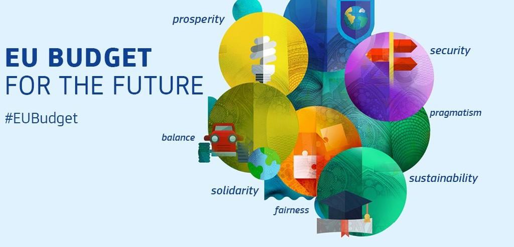 logotyp budżetu Unii Europejskiej na lata 2021-2027