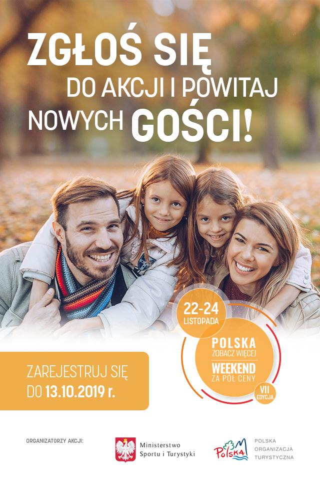 Plakat akcji - Polska zobacz więcej - weekend za pół ceny