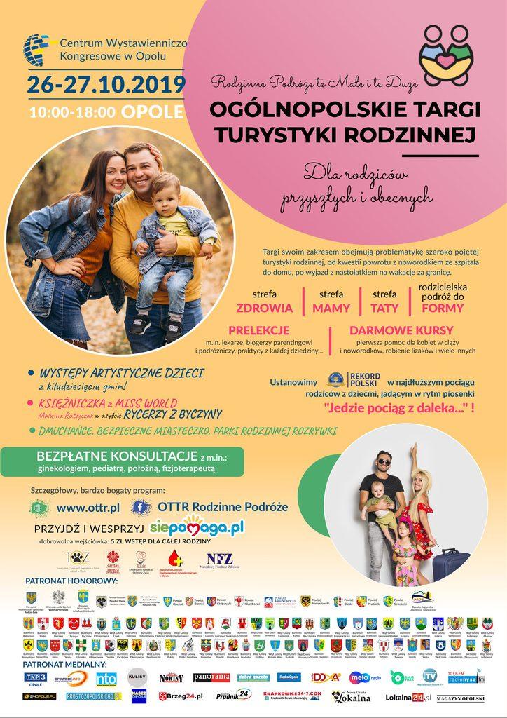Plakat Ogólnopolskich Targów Turystyki Rodzinnej w Opolu