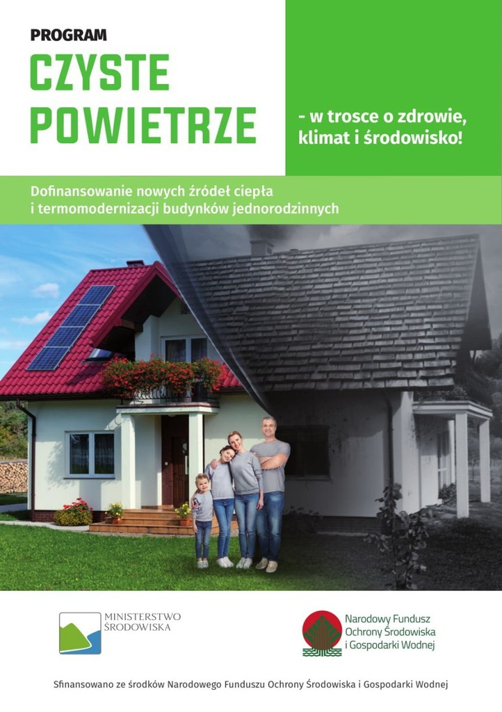 Plakat promujący program Czyste Powietrze