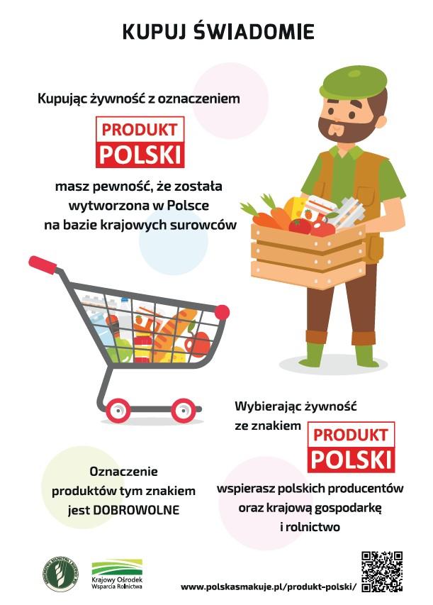 Plakat kupuj świadomie produkt polski