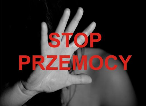 Plakat stop przemocy