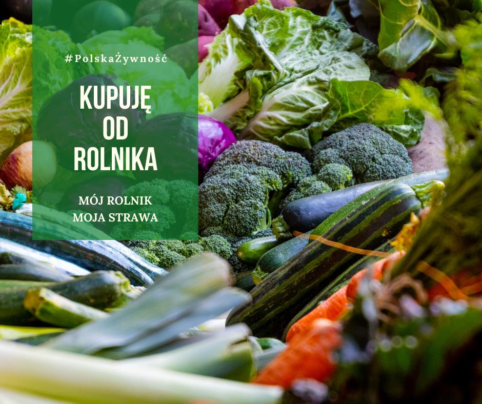 Plakat warzyw i owoców od rolnika