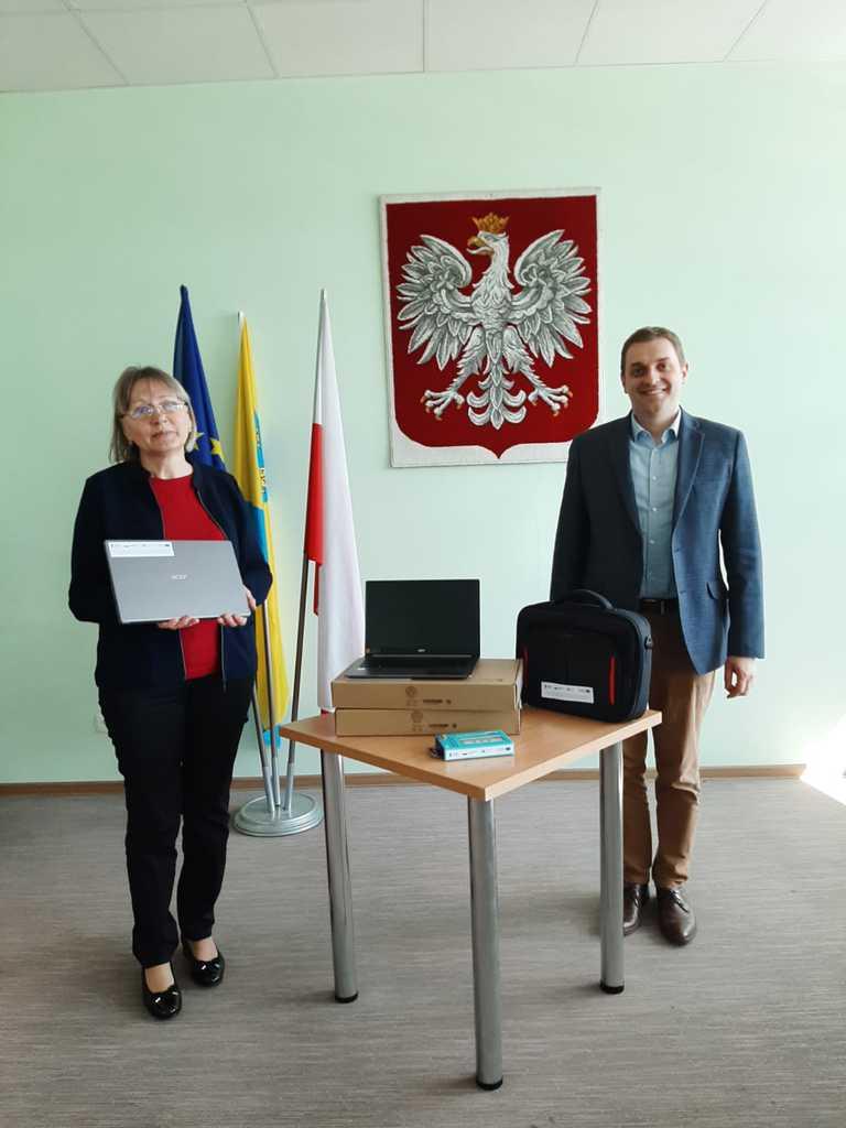 Zastępca Wójta i dyrektor PSP Stare Siołkowice Zdalna Szkoła