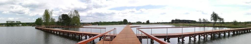 zdjęcie przedstawia Pomost i kąpielisko w Nowych Siołkowicach