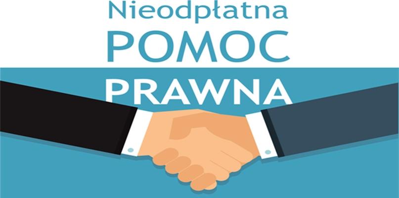 plakat dotyczący pomocy prawnej, dwie przyjazne dłonie