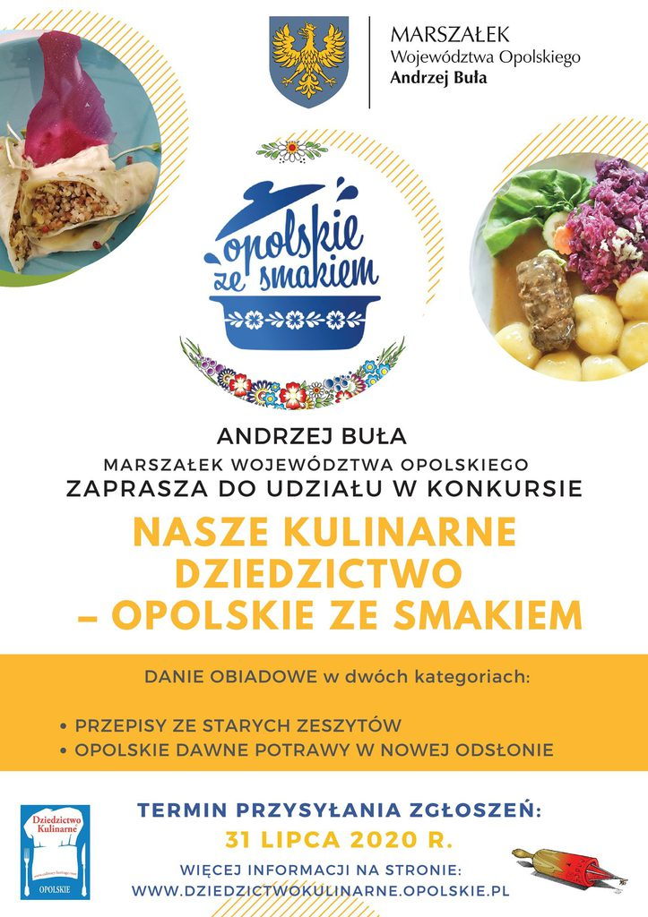 PLAKAT - Konkurs kulinarny Opolskie ze smakiem
