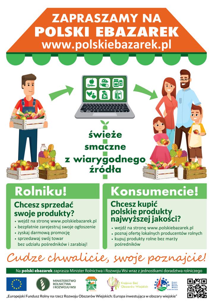Plakat promujący polskiebazarek.pl