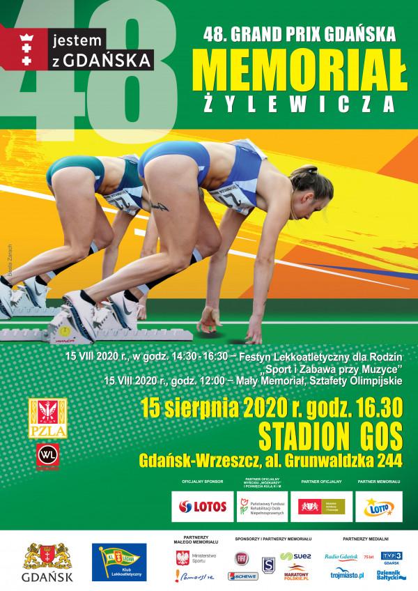 plakat Memoroiał Żylewicza zawody lekkoatletyki w Gdańsku.jpeg