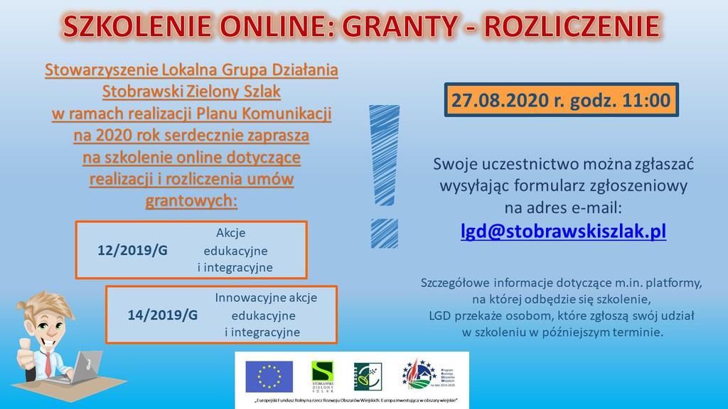 plakat szkolenie LGD