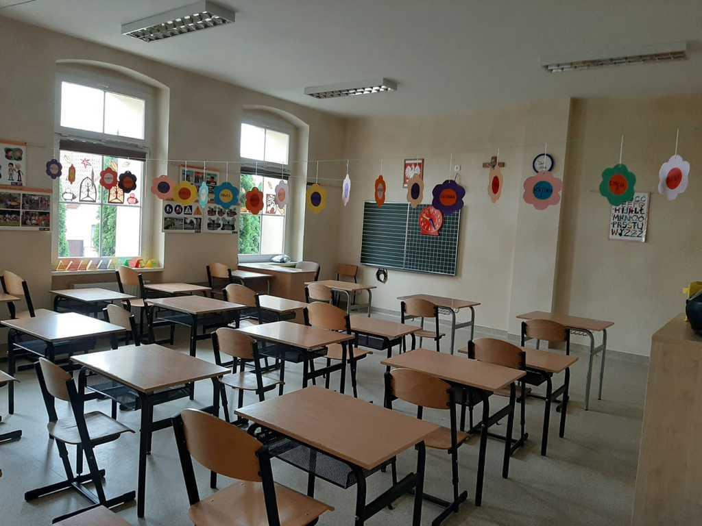 Klasa w szkole podstawowej w Starych Siołkowicach