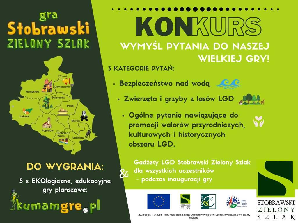 Plakat o konkursie ogłoszonym w  LGD