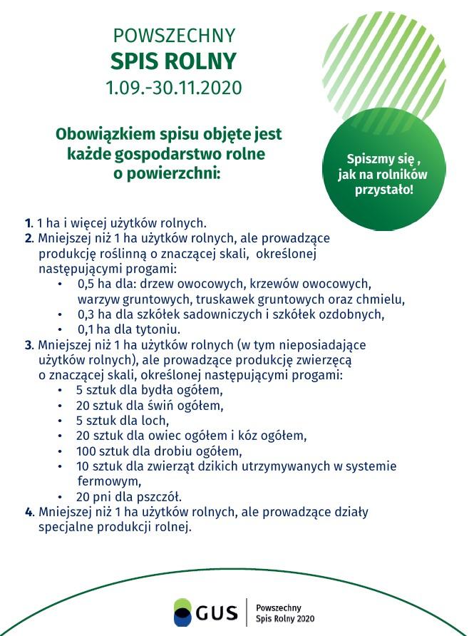 Powszechny Spis Rolny - informacyjna Głównego Urzędu Statystycznego