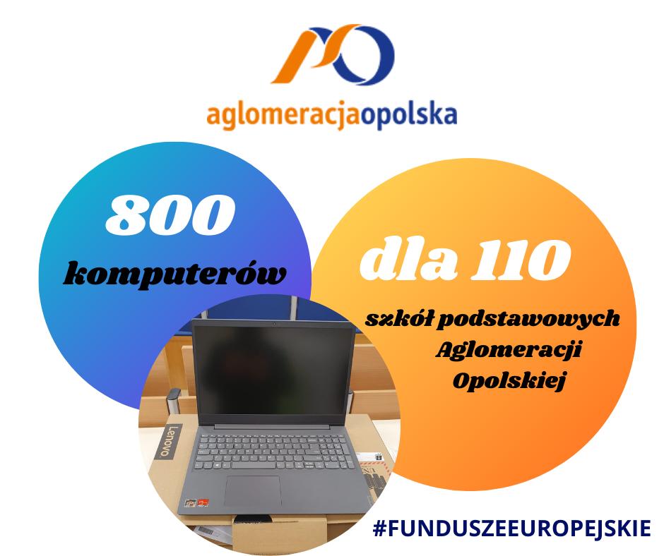 Baner - Komputery dla szkół podstawowych z Aglomeracji Opolskiej