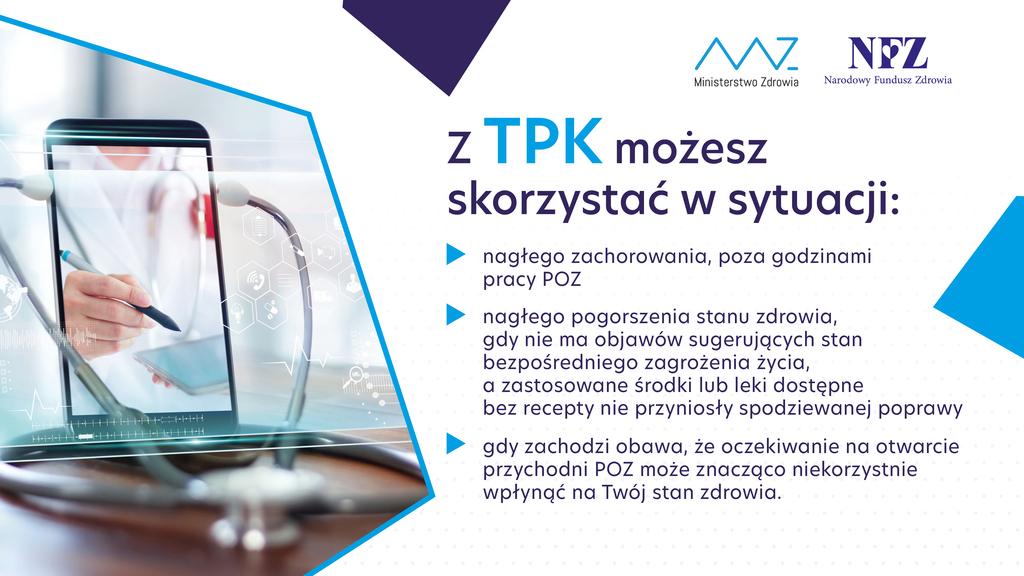 Teleplatforma Pierwszego Kontaktu - sytuacje w których można skorzystać z TPK