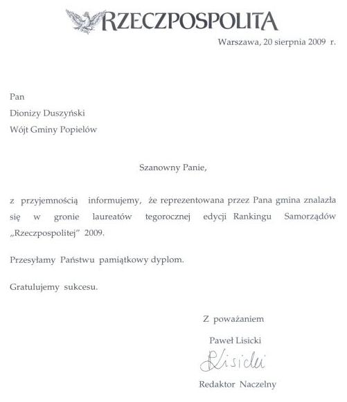 Najlepsza Gmina Wiejska 2009 - pismo-800_1.jpeg