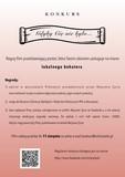 Plakat informujący o konkursie, warunkach udziału i terminie zgłoszeń