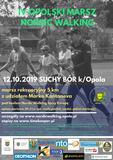 Plakat zaproszenie na Nordic Walking marsz amatorski