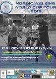 Plakat zaproszenie na Nordic Walking marsz wyczynowy