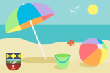 Grafika wakacje- plaża i piasek